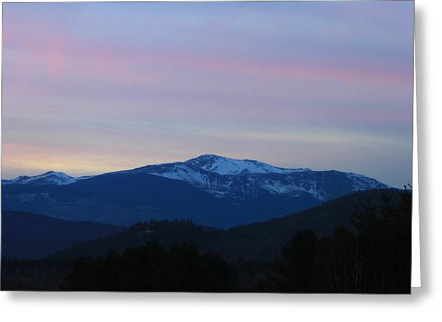 North Conway Greeting Cards - Mount Washington in Evening Greeting Card by John Burk