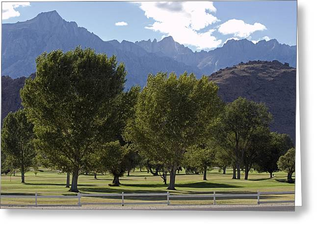 Mount Whitney Greeting Cards - Mount Whitney Golf Club Course Greeting Card by Rich Reid