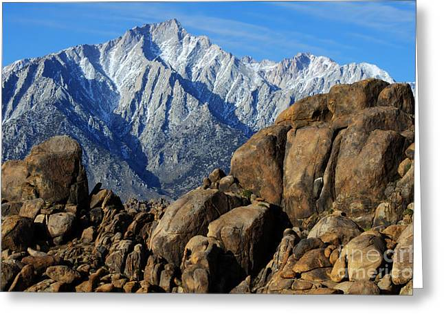 Mount Whitney Greeting Cards - Mount Whitney Splendor Greeting Card by Bob Christopher