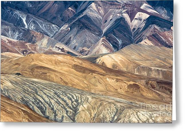 Layer Greeting Cards - Mountain abstract 4 Greeting Card by Hitendra SINKAR