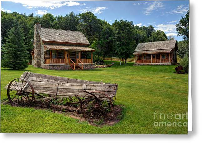Log Cabins Greeting Cards - Mountain Cabin - Rural Idaho Greeting Card by Gary Whitton