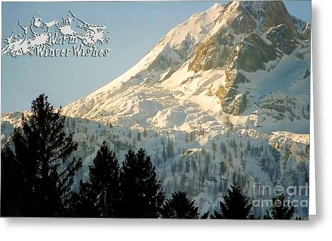Mountain Christmas 2 Austria Europe Greeting Card by Sabine Jacobs