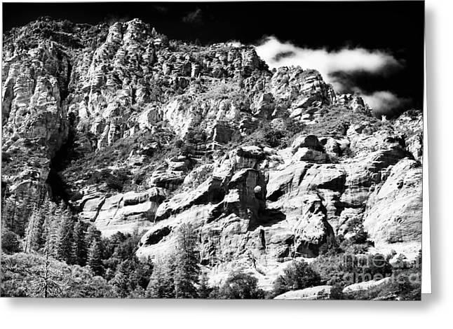 Oak Creek Greeting Cards - Mountain Climbing Greeting Card by John Rizzuto