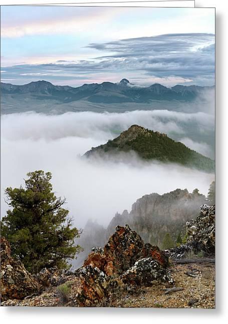 Moist Greeting Cards - Mountain Fog Greeting Card by Leland D Howard
