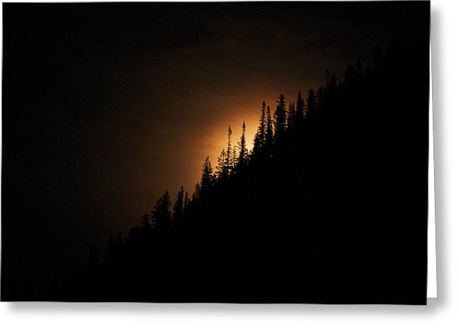 Mountain Glow Greeting Card by Lisa  Spencer