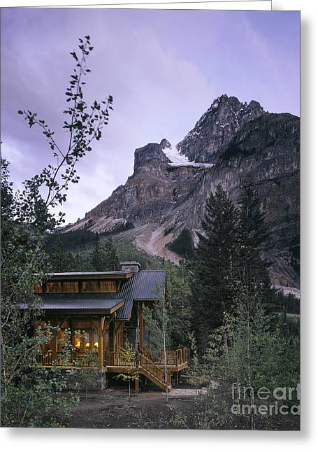 Mountain Home At Dusk Greeting Card by Robert Pisano