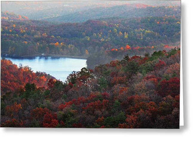 Mountain Lake Greeting Card by Michael Waters