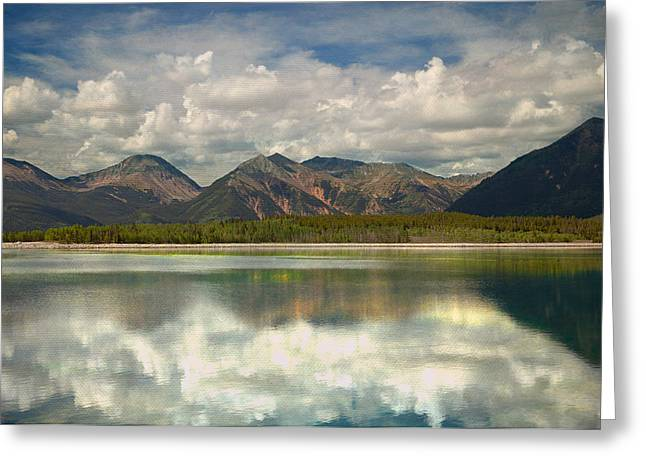 Mountain Lake Greeting Card by Tim Reaves