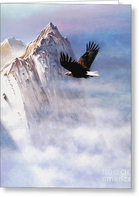 Robert Foster Greeting Cards - Mountain Majesty Greeting Card by Robert Foster