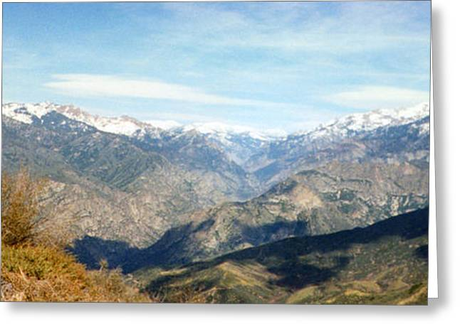 Snow Tree Prints Greeting Cards - Mountain Overlook Greeting Card by C Sitton