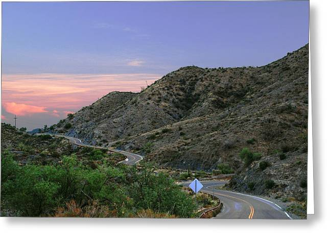 Middle Of Nowhere Greeting Cards - Mountain pass Greeting Card by Anthony Citro