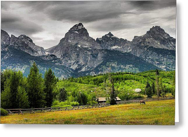 Pasture Framed Prints Greeting Cards - Mountain Pasture Greeting Card by Steven Ainsworth