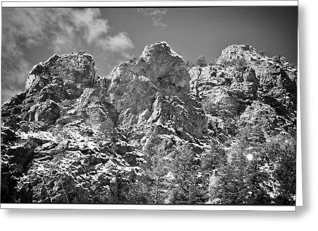 Greeting Cards - Mountain Peaks Greeting Card by Lisa  Spencer
