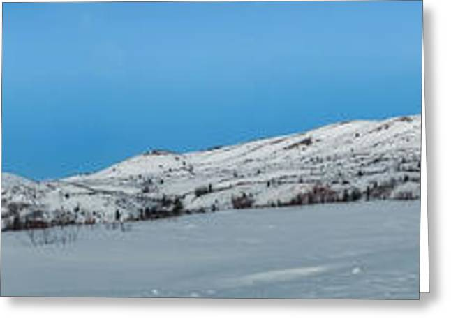 Mountain range along the Dempster Highway Greeting Card by Priska Wettstein