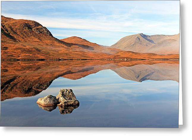 Mountain Reflection Greeting Card by Grant Glendinning