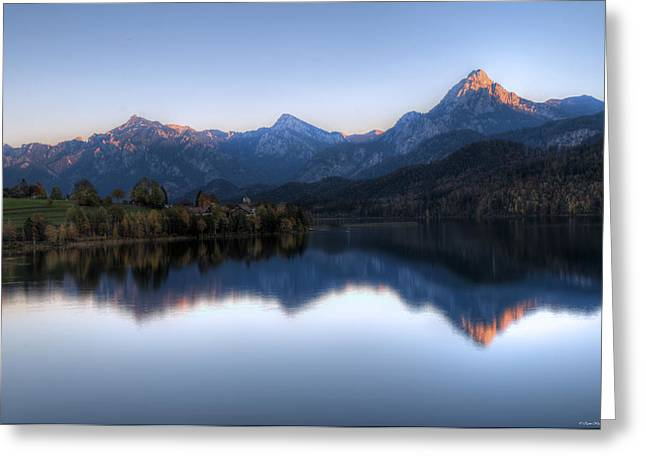 Mountain Reflections Greeting Card by Ryan Wyckoff