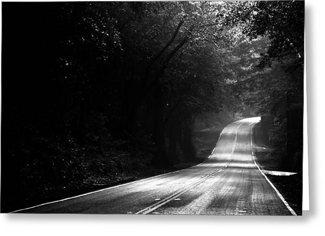 Mountain Road Greeting Cards - Mountain Road II Greeting Card by Matt Hanson