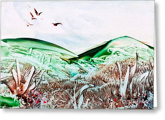 Vale Greeting Cards - Mountain Scene Greeting Card by Simon Bratt Photography LRPS