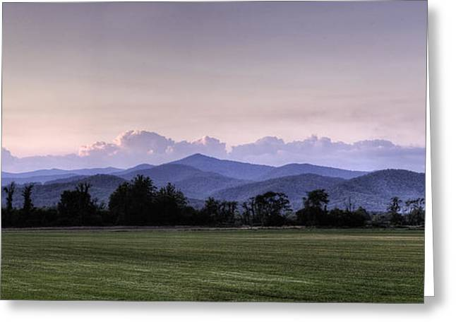 Mountain Sunset - North Carolina Landscape Greeting Card by Rob Travis