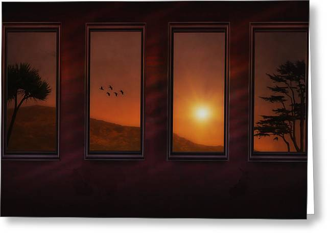 Sunset Posters Greeting Cards - Mountain Sunset Greeting Card by Tom York Images