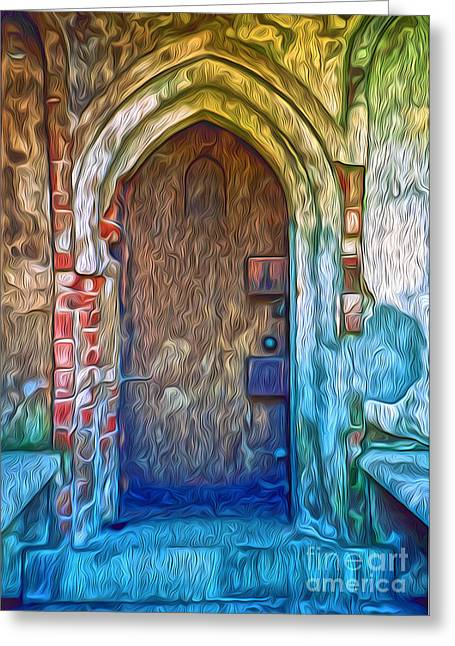 Mountain View Cemetery Tomb - Number 2 Greeting Card by Gregory Dyer