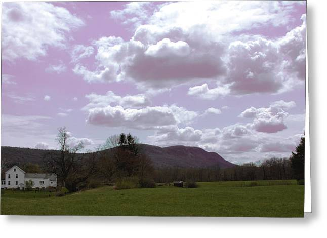 Holyoke Range Greeting Cards - Mountain View Greeting Card by Michael Friedman
