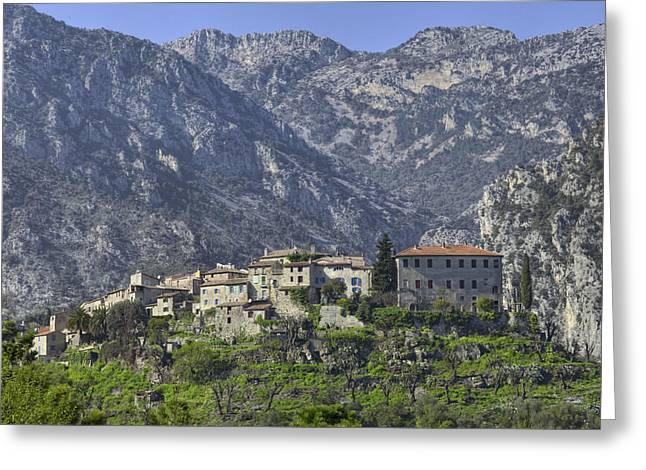 Village In France Greeting Cards - Mountain Village Greeting Card by Al Hurley