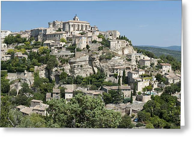 Azur Greeting Cards - Mountain Village In South Of France Greeting Card by Greg Dale