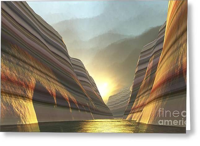 Creativity Desert Greeting Cards - Mountain Vista Greeting Card by Corey Ford