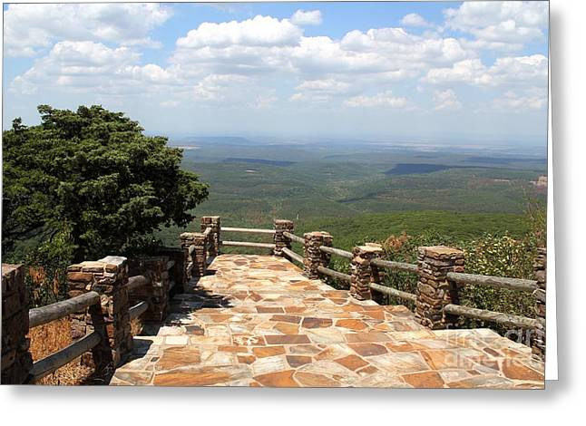 Mt Magazine Greeting Cards - Mountain Walkway Greeting Card by Theresa Willingham