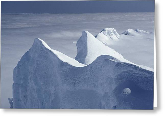 Gremlin Greeting Cards - Mountaineers Ascend Gremlins Cap Greeting Card by Gordon Wiltsie