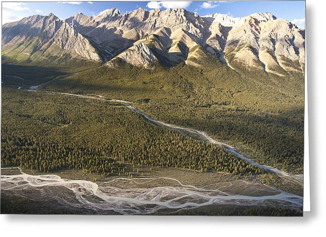 Braiding Greeting Cards - Mountains Above Coral Creek And Cline Greeting Card by Matthias Breiter