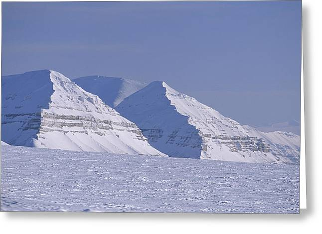 Mountains Above Kings Glacier Greeting Card by Gordon Wiltsie