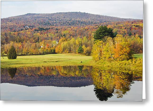 Pond In Park Greeting Cards - Mountains Covered In Fall Colors Greeting Card by James Forte