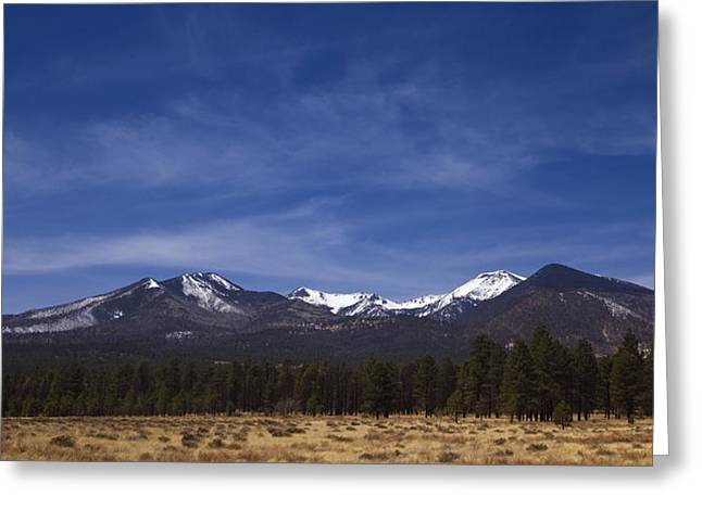 Snow Capped Greeting Cards - Mountains in the Desert Greeting Card by Andrew Soundarajan
