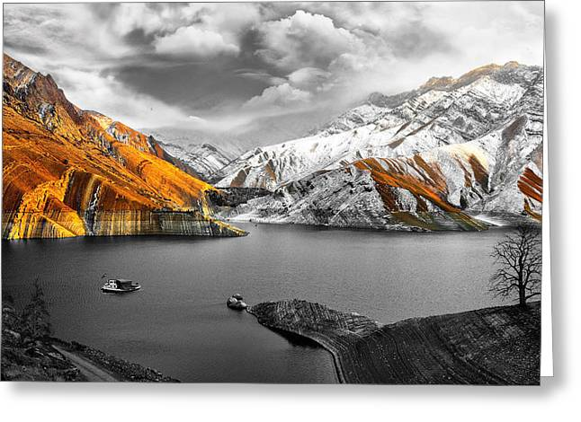 Mountains In The Valley 2 Greeting Card by Sumit Mehndiratta