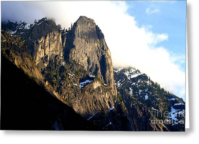 Mountains Of Yosemite . 7d6167 Greeting Card by Wingsdomain Art and Photography