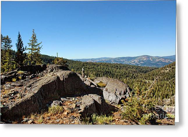 Rugged Mountains Greeting Cards - Mountaintop Scenic  Greeting Card by HD Connelly