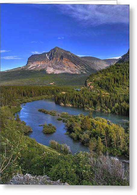 Mountana Wilderness Greeting Card by Don Wolf