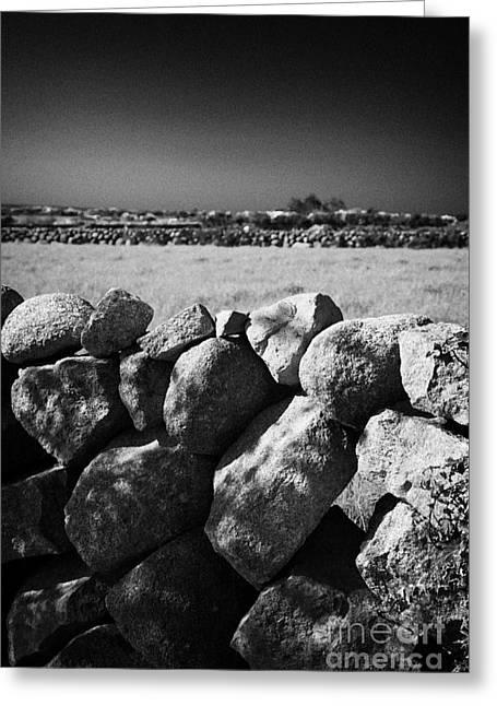Mourne Granite Irish Dry Stone Wall Ireland Greeting Card by Joe Fox