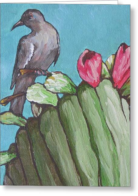 Mourning Dove Greeting Cards - Mourning Dove Greeting Card by Sandy Tracey