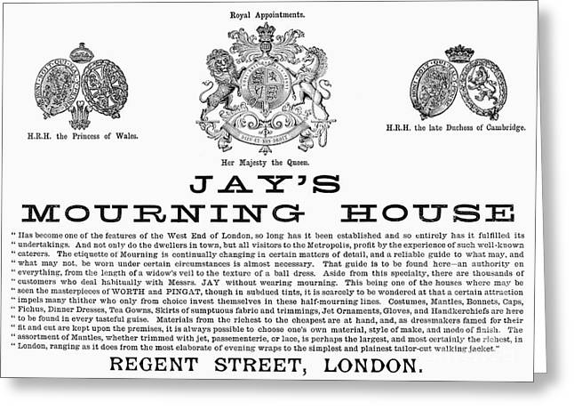 MOURNING HOUSE, 1891 Greeting Card by Granger