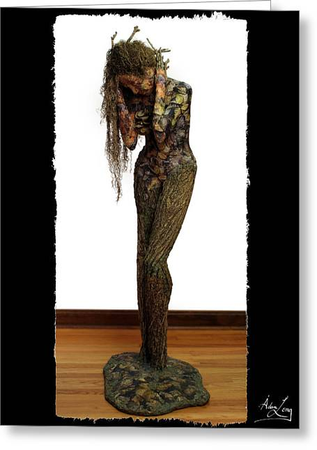 Nude Woman Greeting Card Greeting Cards - Mourning Moss greeting card image Greeting Card by Adam Long