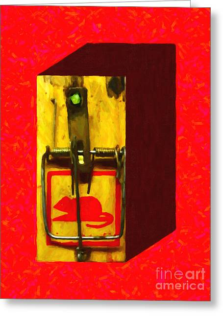 Gadget Greeting Cards - Mouse Trap - Version 1 Greeting Card by Wingsdomain Art and Photography