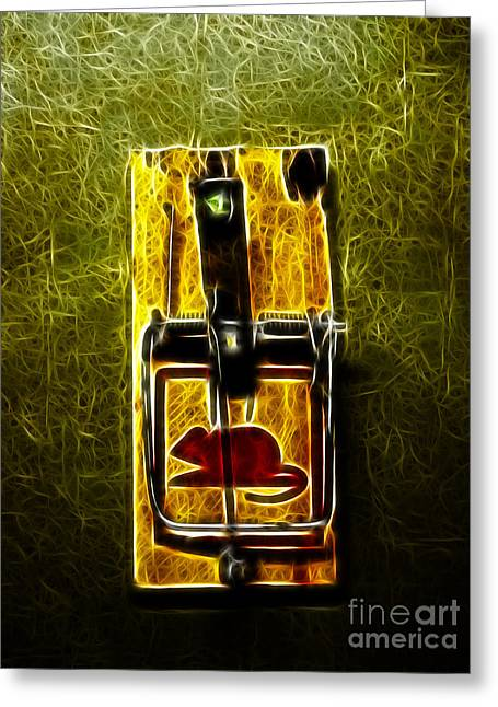 Gadget Greeting Cards - Mouse Trap - Version 2 Greeting Card by Wingsdomain Art and Photography