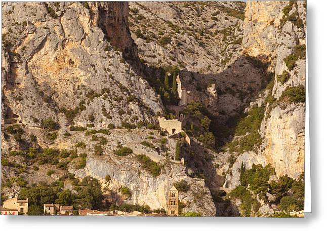 Moustier-Sainte-Marie Greeting Card by Brian Jannsen