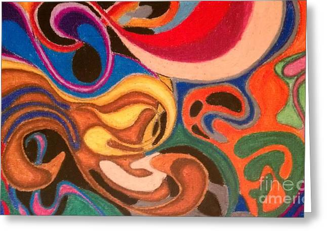 Abstract Movement Pastels Greeting Cards - Movement Greeting Card by Damion Powell