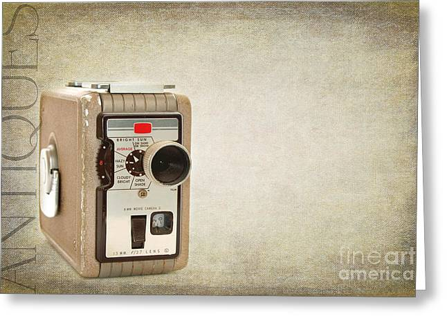 Cam Greeting Cards - Movie Camera Greeting Card by Darren Fisher