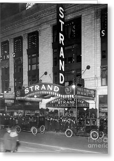 American Automobiles Greeting Cards - Movie Theatre, 1920 Greeting Card by Granger