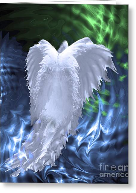 Fantasy World Greeting Cards - Moving Heaven and Earth Greeting Card by Cathy  Beharriell